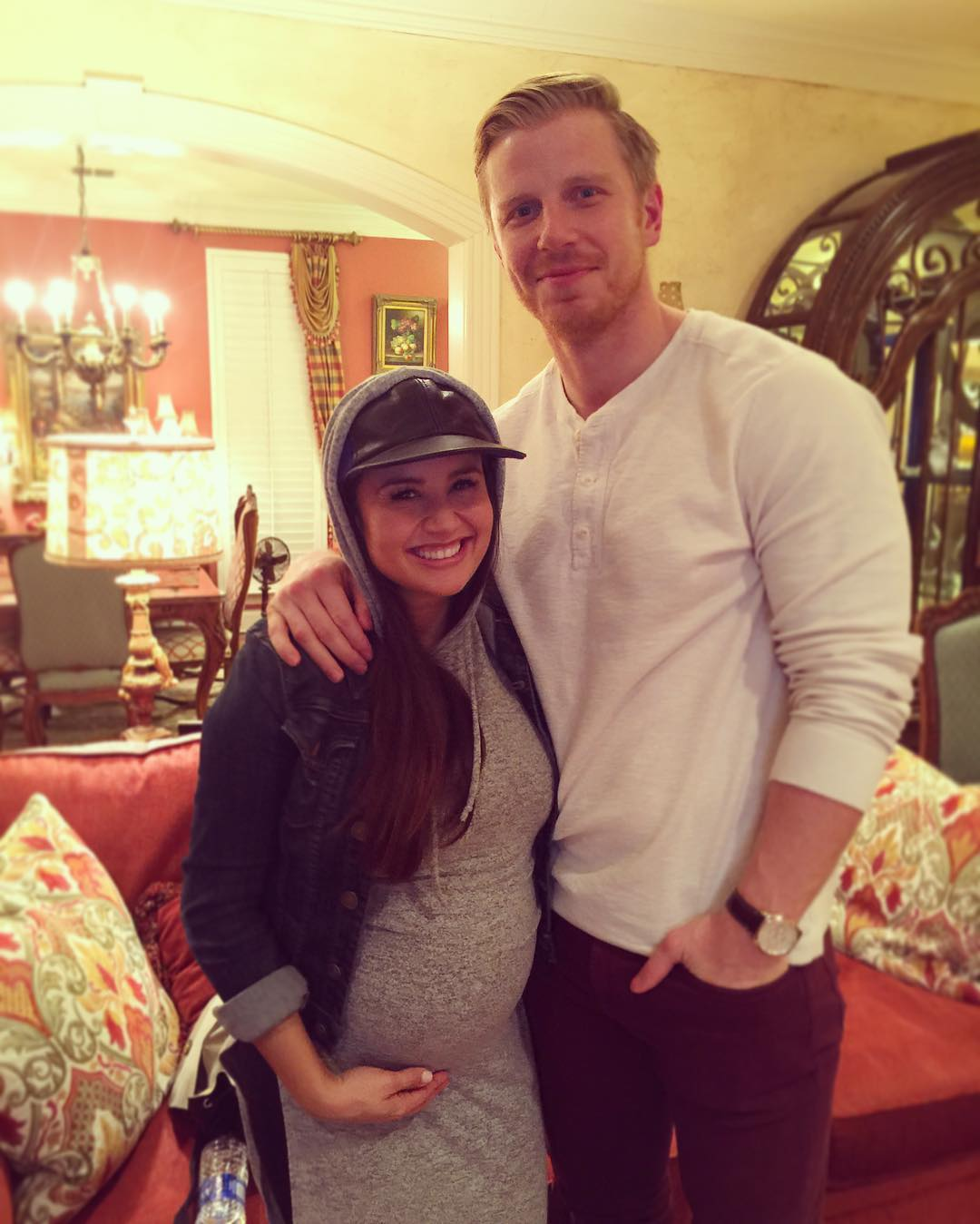 Catherine Lowe Shows Off Growing Baby Bump At Almost 7