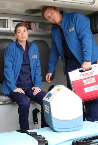Grey's Anatomy Season 12, Episode 17, Nathan Riggs, Meredith Grey, Owen Hunt, Martin Henderson, Ellen Pompeo, Kevin McKidd