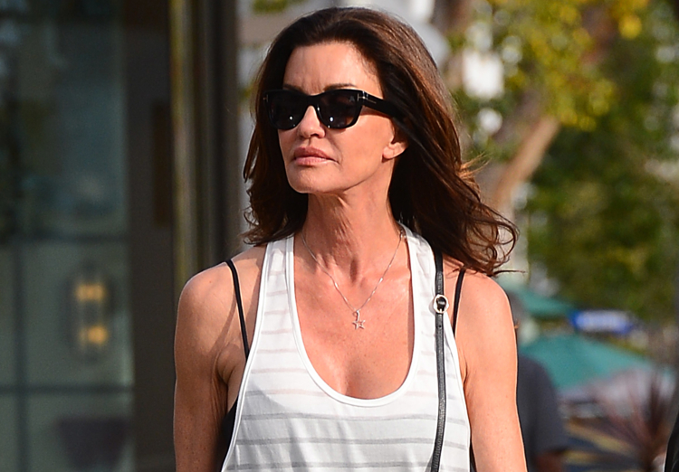 Janice Dickinson Shops With a Male Friend on Melrose