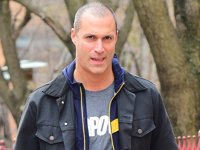 Nigel Barker walks his barking best friend Memphis in NYC