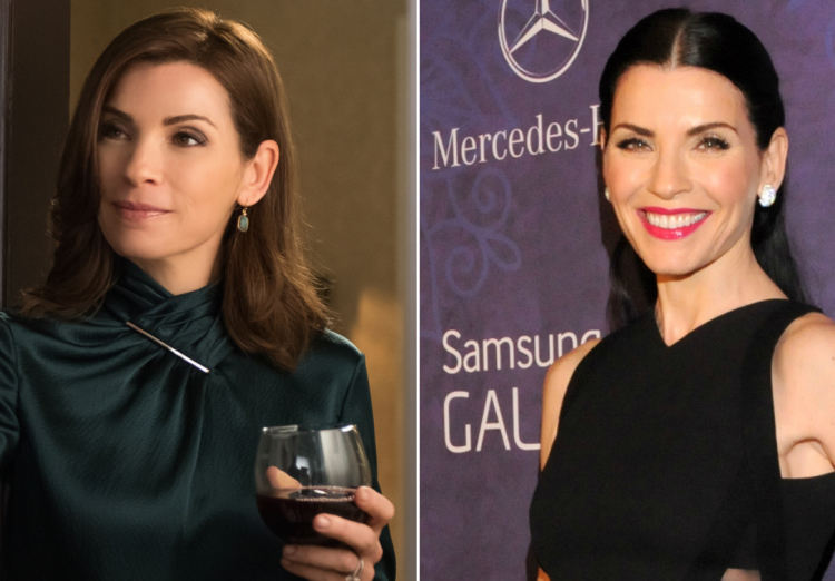 TV stars with wigs, Julianna Margulies