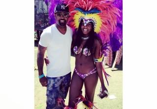 Kaela and Todd Tucker at the Atlanta Caribbean Parade