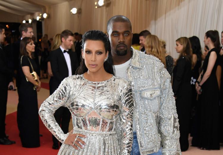 Kim Kardashian and Kanye West 2016 Met Gala