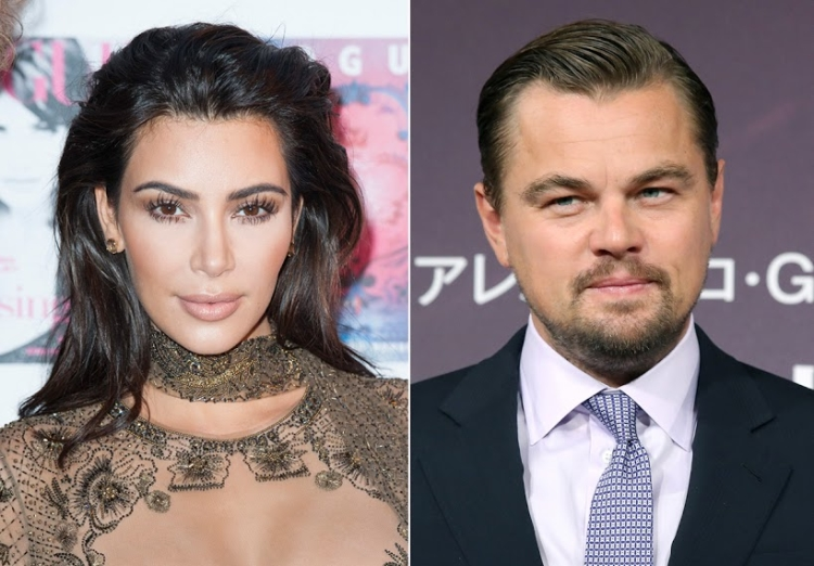 Kim Kardashian and Leonardo DiCaprio