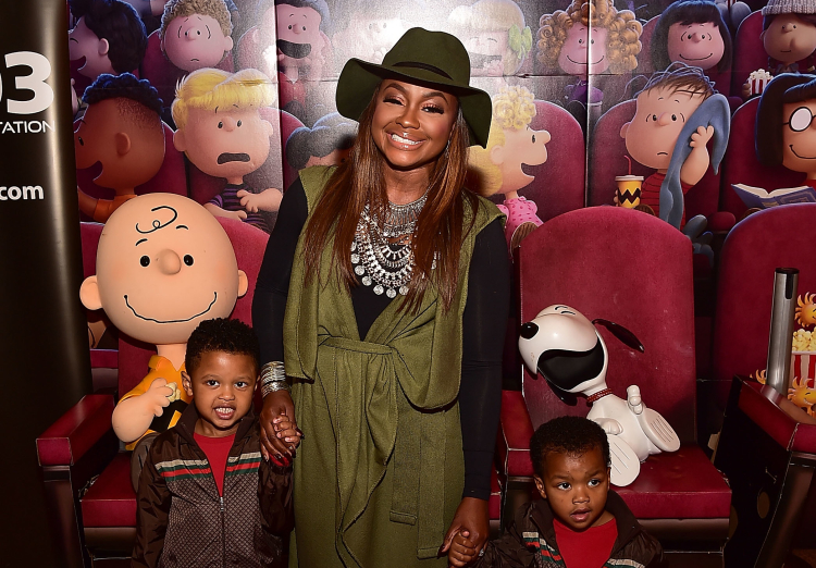 Phaedra Parks With Her Sons Ayden and Dylan Nida