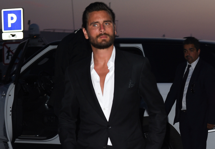 Kendall Jenner , Scott Disick and Kris jenner arrive at the Chopard dinner at Baoli beach in cannes