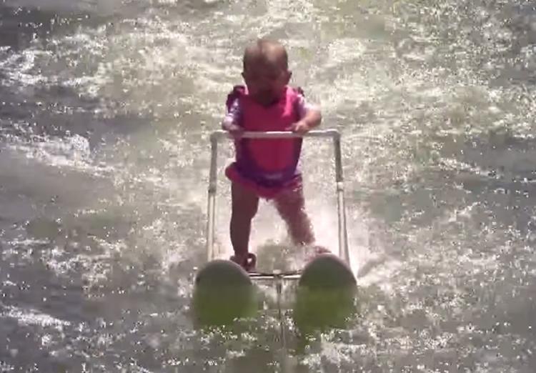 Waterskiing Baby Zayla St Onge