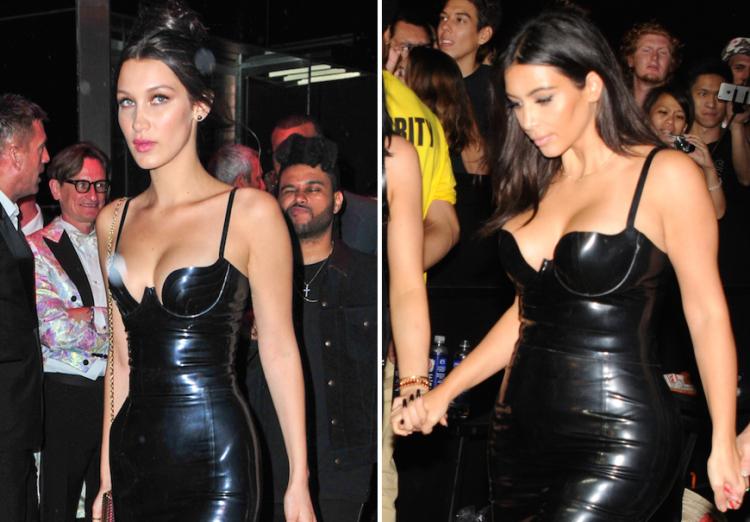Kim Kardashian and Bella Hadid