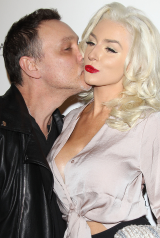 Courtney Stodden and Doug Hutchinson arrive at the Star Hollywood Rocks presents Jason Derulo's Listening Party - Los Angeles