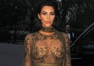 Kim Kardashian (Nearly) Goes Nude on Red Carpet in Sheer Illusion Dress (PHOTOS)