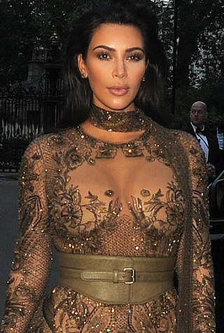 Kim Kardashian and Kanye West attend Vogue - 100th anniversary gala dinner