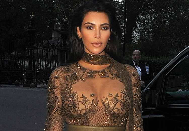 Kim Kardashian and Kanye West attend Vogue - 100th anniversary gala dinner