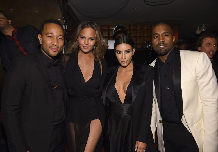 John Legend, Chrissy Teigen, Kim Kardashian, Kanye West