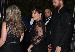 Kris Jenner Flaunts Cleavage in Completely Sheer Dress at Cannes (PHOTOS)
