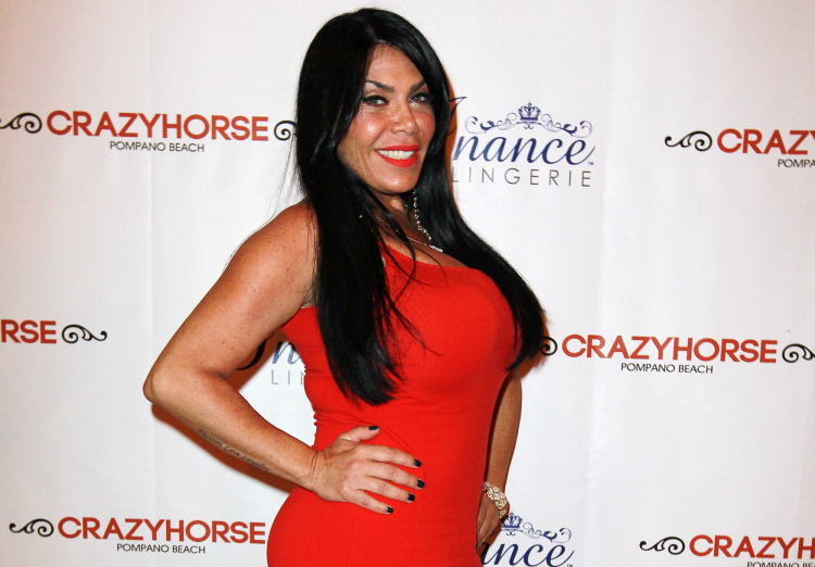 Renee Graziano of Mob Wives celebrates co-star Karen Gravano's birthday at Crazy Horse Cabaret in Pompano