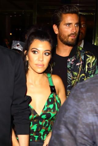 Kourtney Kardashian and Scott Disick leave 1Oak after his birthday celebration in Las Vegas, Nevada