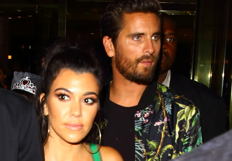 Kourtney Kardashian and Scott Disick leave 1Oak after his birthday celebration in Las Vegas, Nevada