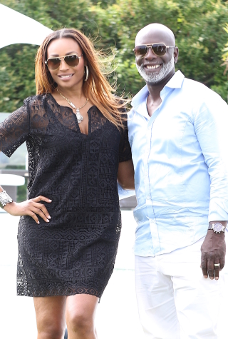Cynthia Bailey and Peter Thoams in Southampton, NY in 2015