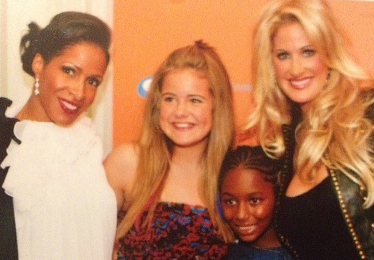 Sheree Whitfield and Kim Zolciak With Daughters Brielle and Kaleigh