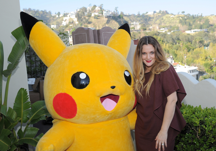 Celebrities playing Pokemon Go, Drew Barrymore