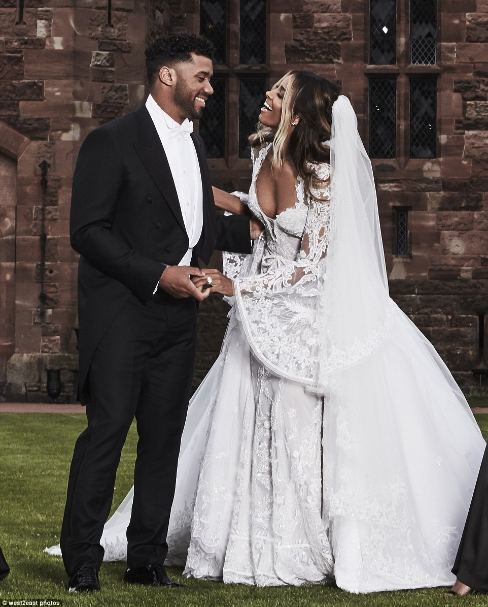 ciara russell wilson are married inside their england