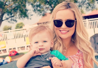 Emily Maynard Shows Off Growing Baby Bump — and Son Jennings! (PHOTO)