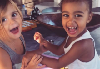 North West & Penelope Disick Run The Cutest Lemonade Stand Ever
