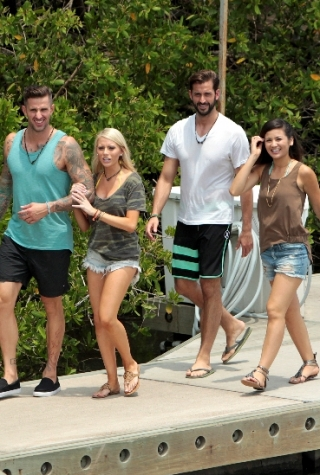 Carl King, Emily Ferguson, Brett Melnick, and Caila Quinn on Bachelor in Paradise Season 3, Week 4