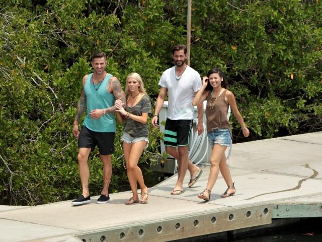 Carl King, Emily Ferguson, Brett Melnick, and Caila Quinn on Bachelor in Paradise Season 3, Week 4