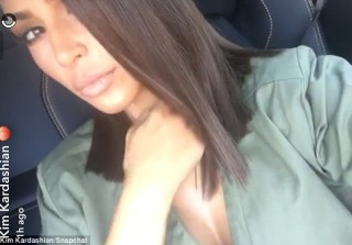 Kim Kardashian Steps Out With A New Haircut and No Underwear
