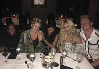 Khloe Kardashian & Kim Zolciak Share a Meal... And a Plastic Surgeon!