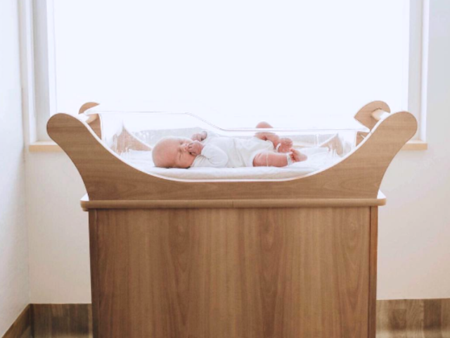 Baby Leo in His Crib