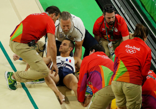 UPDATE: French Gymnast Dropped on Stretcher After Breaking His Leg During 2016 Olympics