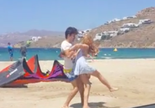 Lindsay Lohan & Fiancé\'s Violent Fight Caught on Camera