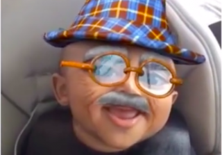 Kim Kardashian Shares Cute Snapchats of Saint West in Funny Filters