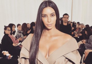 Braless Kim Kardashian Goes Makeup-Free During Paris Fashion Week (PHOTOS)