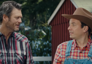 Blake Shelton Teaches Jimmy Fallon How to Milk a Cow Because Why Not? (VIDEO)