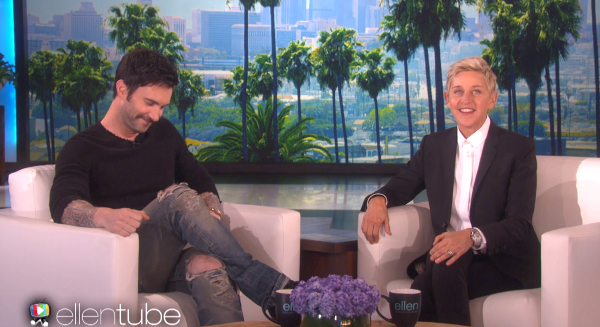 Ellen DeGeneres Named Adam Levine's Daughter Dusty Rose